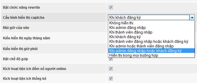 Hình 9: Bật chế độ Kiểm tra IP khi truy cập khu vực admin