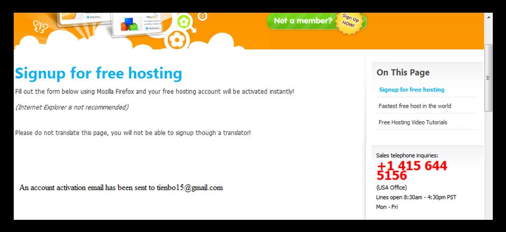 Hình 6: Thông báo gửi email