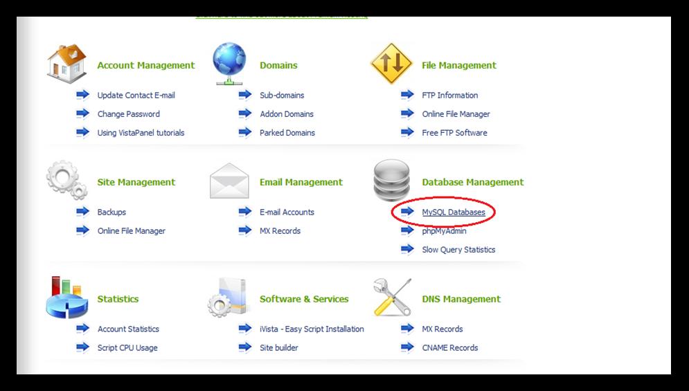 Hình 22: Chọn MySQL Database