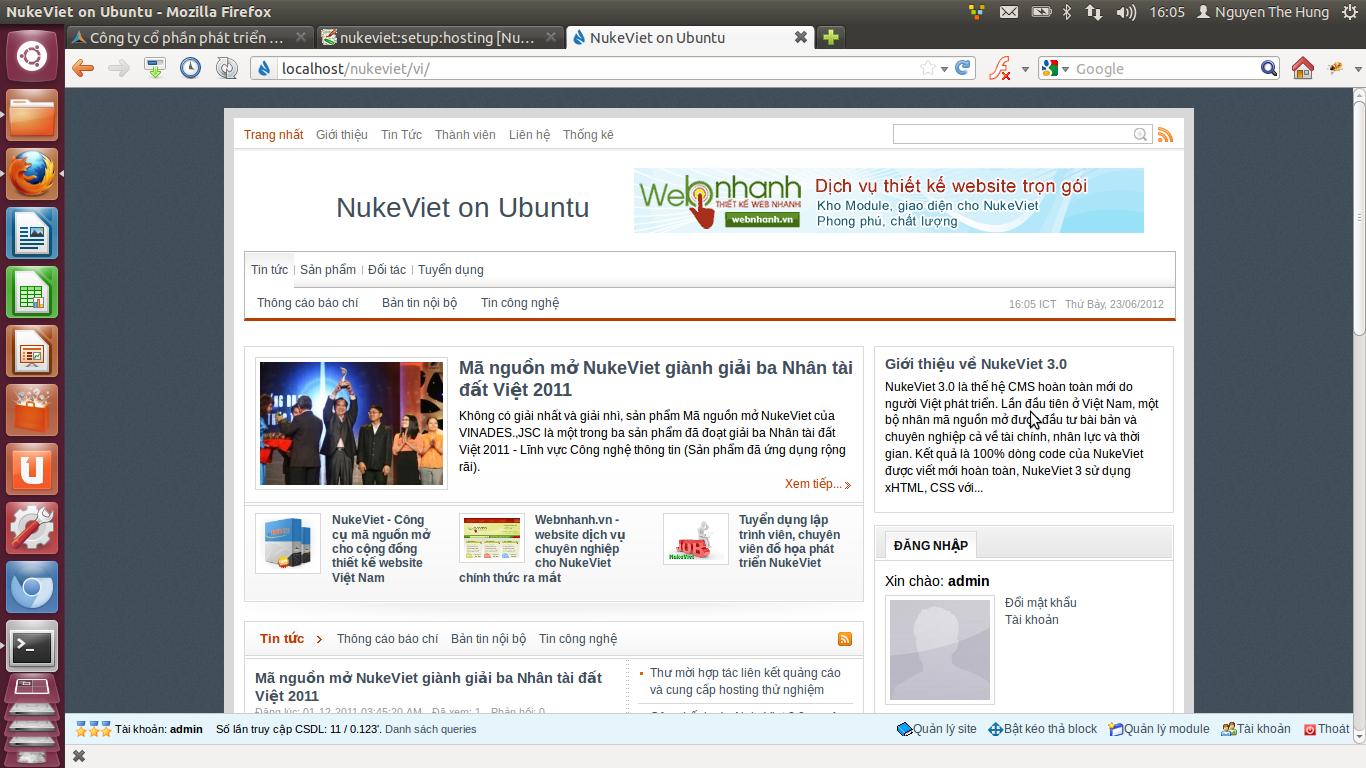 NukeViet cài trên Ubuntu 12.04