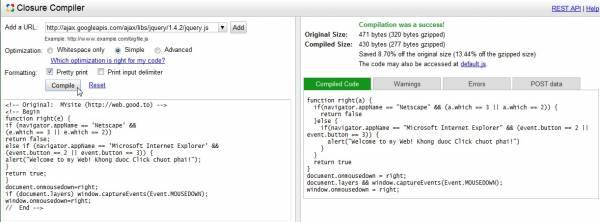Hình 12: Đoạn code được tối ưu vấn giữ nguyên cấu trúc dễ đọc.
