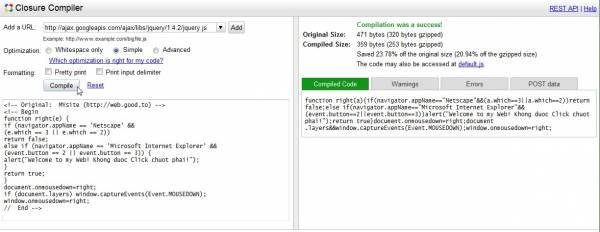 Hình 13: Đoạn code được tối ưu hết cỡ, việc đọc nó cũng không còn dễ dàng vì cấu trúc dòng lệnh cũng bị hủy.
