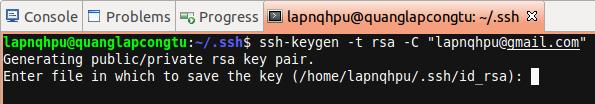 Tạo SSH key mới