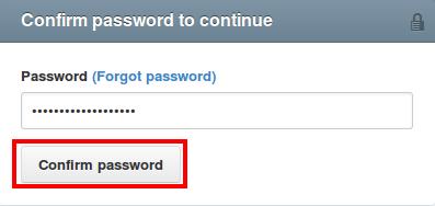 Xác nhận mật khẩu Github