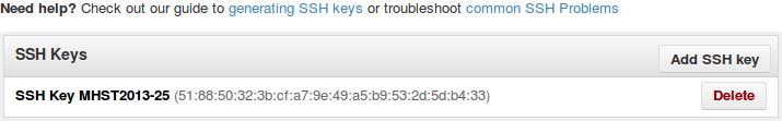 SSH key đã được thêm vào tài khoản Github