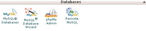 Hình :1 Khu vực Quản lý cơ sở dữ liệu MySQL của cPanel 11