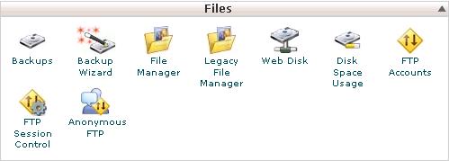 Hình 1: Khu vực quản lý File của cPanel 11