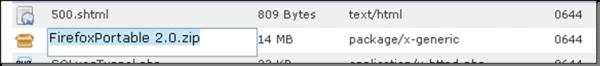 Hình 12: Đổi tên, CHMOD một file, thư mục trong File Manager 3.0 hết sức dễ dàng
