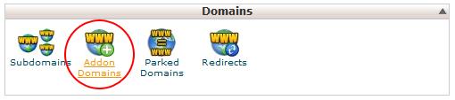 Hình 4: Addon domains